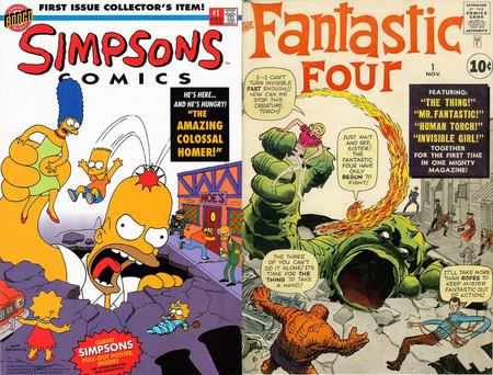 Nacen los comics de los Simpsons con homenaje a Marvel