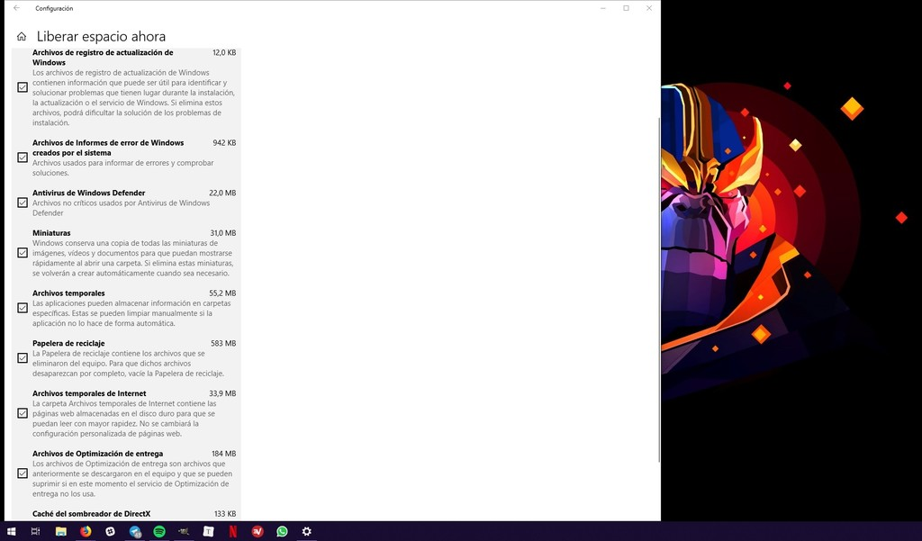 Liberar Espacio Windows 10