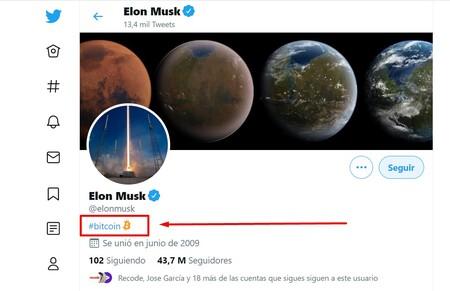 """Elon Musk ändert seine Twitter-Biografie in """"#bitcoin"""" und der Wert steigt in einer Stunde um 5.000 US-Dollar"""