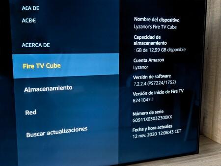 Ajustes Fire Tv Cube