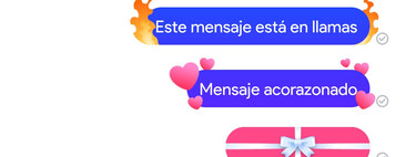 Cómo enviar en Messenger℗ textos con efectos de fuego, corazones, regalos y otros