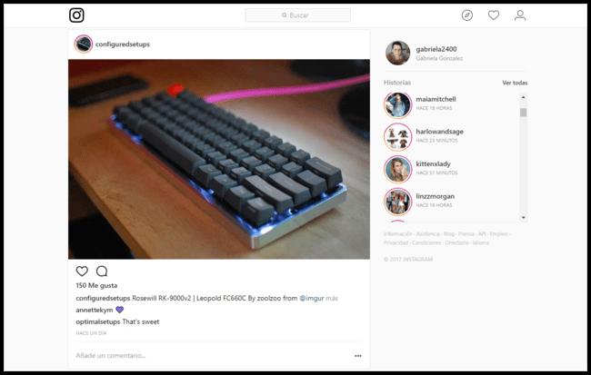 Las historias de Instagram llegan a la web móvil y al escritorio