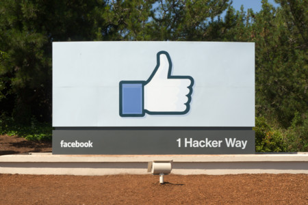 Facebook Headquarters Entrance Sign Menlo Park