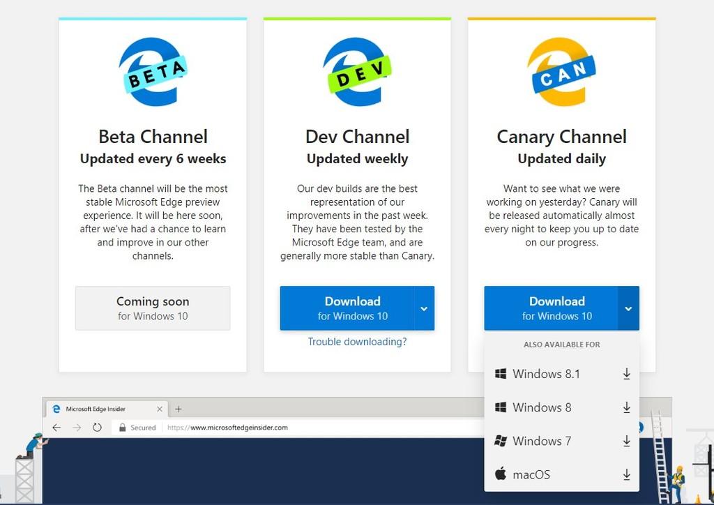 Microsoft Edge Chromium ya está disponible en Windows 7 y 8.1, solo nos falta la versión para Linux