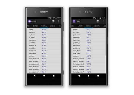 Sony Xperia Xz1 Temperatura