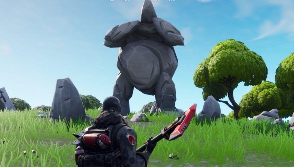 Guía Fortnite: un hombre de roca gigante, un tomate coronado y un árbol cercado [Temporada 7, semana 5]