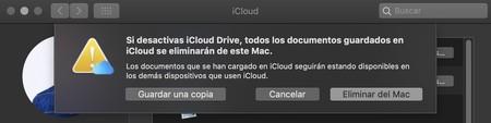 Eliminar datos iCloud