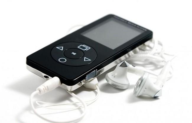 Handheld Mp3 Player With Earbud Headphones
