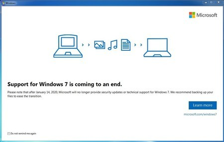 Fin de vida Windows 7