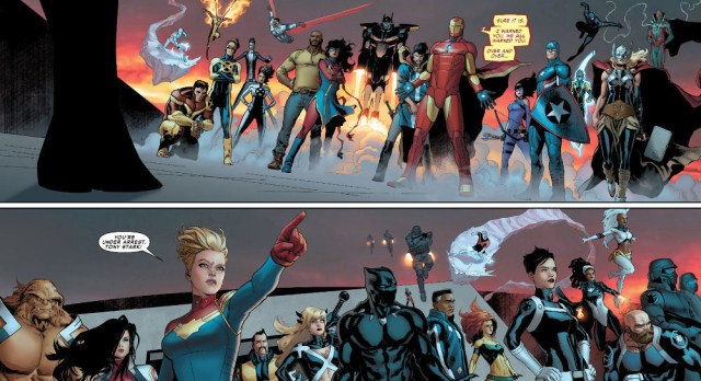 Civil War Ii cuatro Doublepage Spread 1