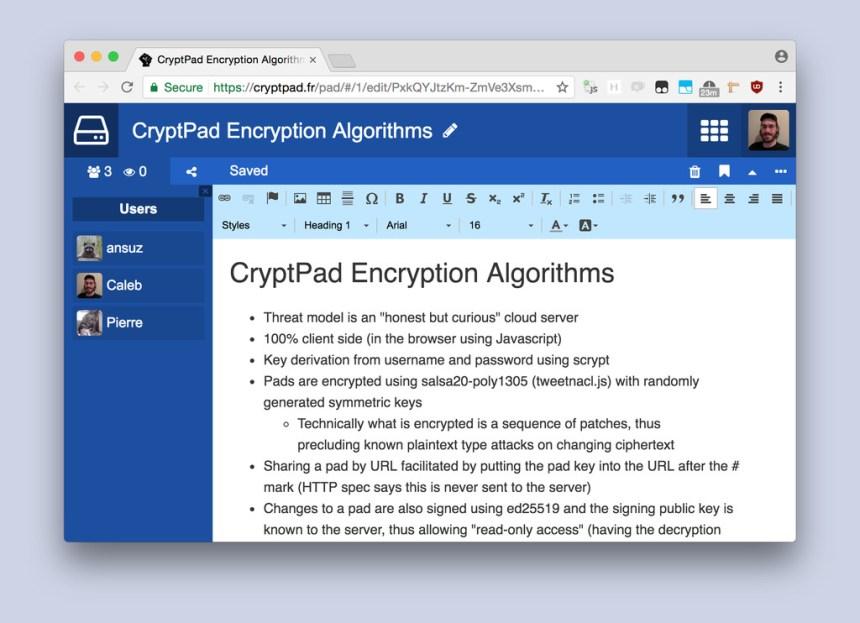 CryptPad: una alternativa a Google Docs open source y cifrada