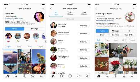 Nuevo diseño de perfil de Instagram