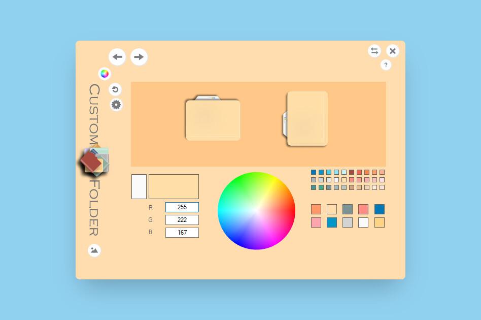 Esta aplicación te deja personalizar las carpetas en Windows 10 con diferentes colores, imágenes y estilos