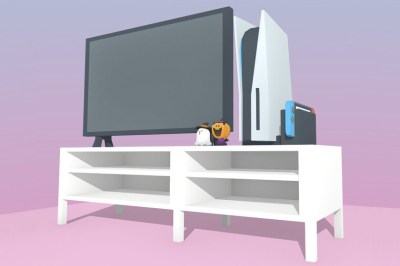 These illustrations show the size that the new consoles will occupy at home