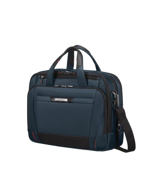 "Samsonite Pro-Dlx 5 Lapt.Bailhandle 15.6 Laptop Bag for Men"" indigo blue color"