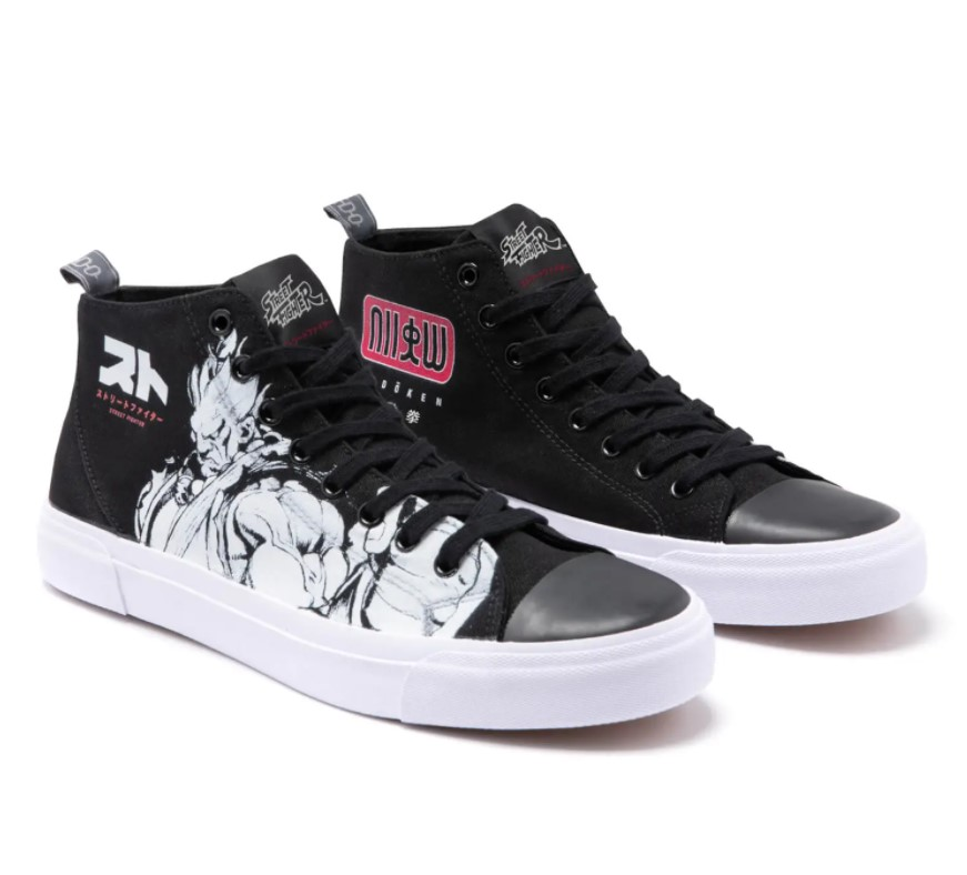 Akedo x Street Fighter Black Adult Signature High Top (Limited Edition)