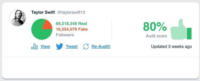Window Y Taylorswift13 S Audit Twitter® Audit Audit Your Twitter® Followers