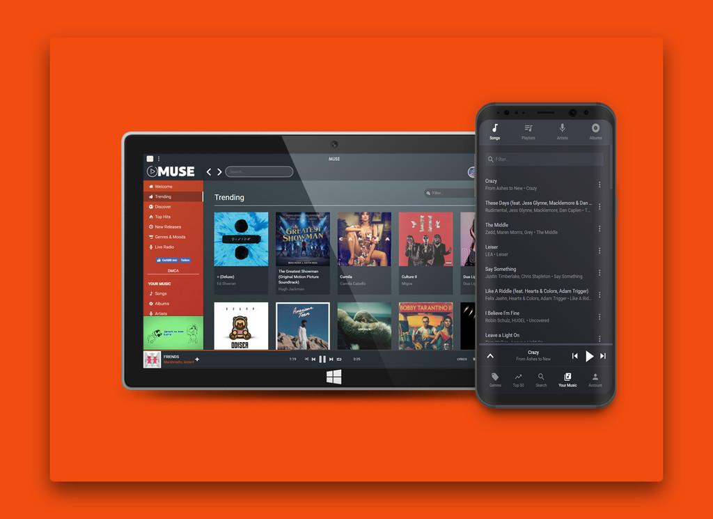 'MUSE' es un servicio de streaming(transmisión) gratuito con mas de 35 millones de canciones(mp3)