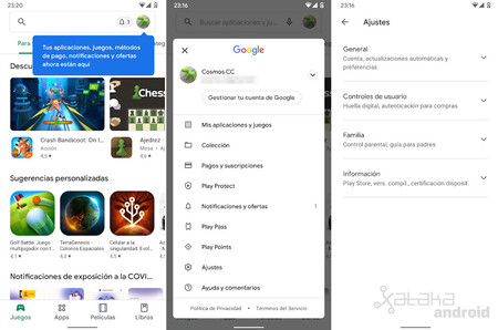 Google Play Store Nueva Interfaz