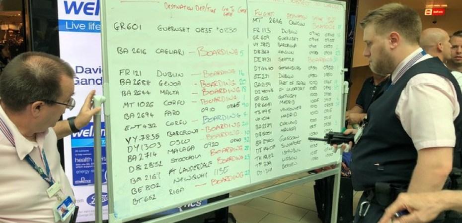 Las pantallas de información del aeropuerto de Gatwick han fallado y ...