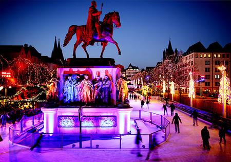 Colonia Pista Patinaje Ciudades Europeas Con Mas Luces En Navidad