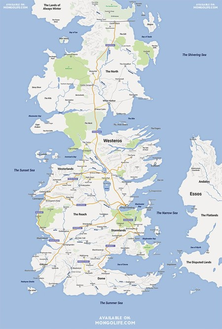 Google Map Westeros 0