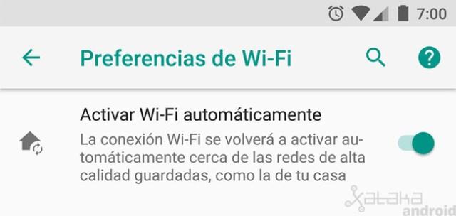 Activar Wifi automáticamente, Android Oreo
