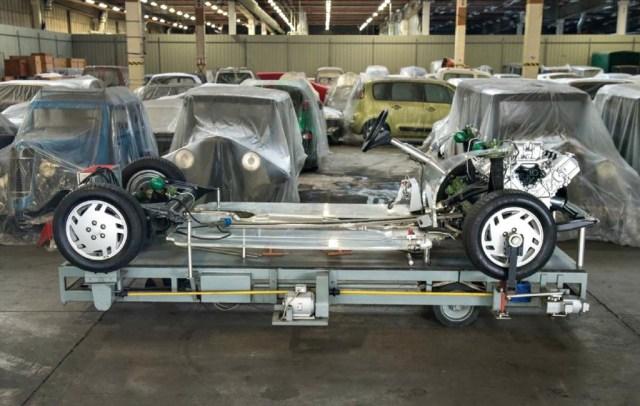 Citroën XM maqueta suspensiones