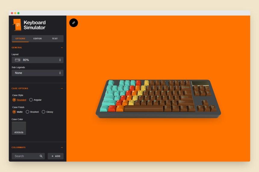 Keyboard Simulator es una genial web interactiva en la que puedes diseñar tu próximo teclado mecánico