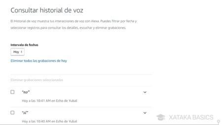 Historial De Voz