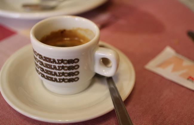 Café espresso en Italia