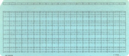 Punch Card Blue