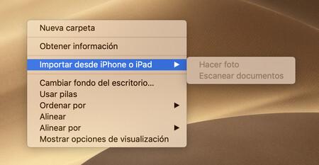 Menu derecho click mac