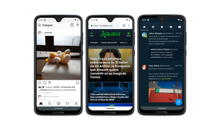 Moto G7 Plus Ejemplos Interfaz