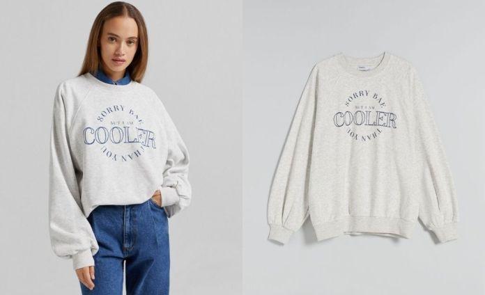 Oversize print sweatshirt