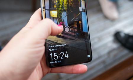 Lector de huellas en la pantalla del Huawei Mate 20 Pro