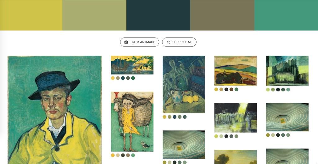 Window Y Google® Art Culture Experiment Art Palette 2