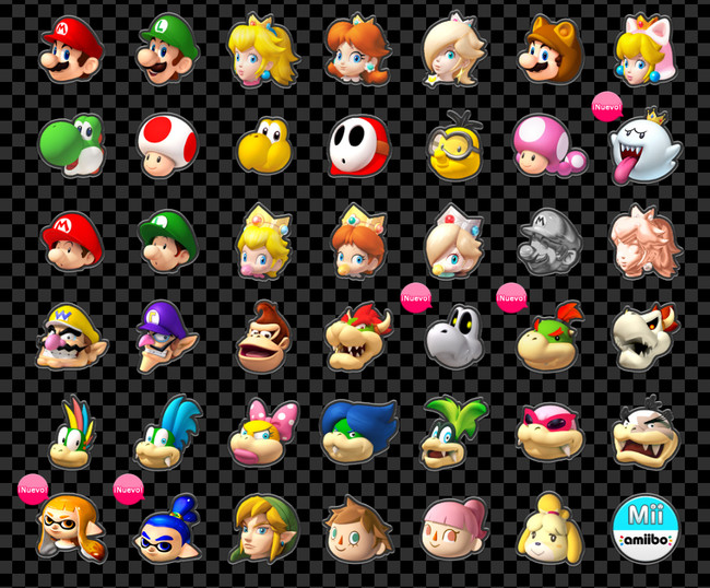 Personajes Mario Kart 8