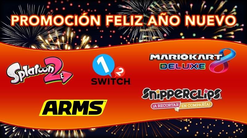 Nintendo inicia su promoción Feliz Año Nuevo 2019 con ofertas en numerosos juegos de Nintendo Switch y Nintendo 3DS