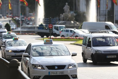 Un taxi de Madrid
