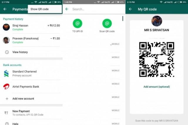 WhatsApp Pay QR