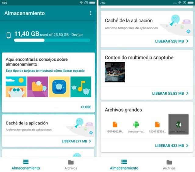 Files Go Liberar Espacio Android