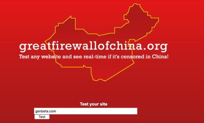 Window Y Great Firewall Of China