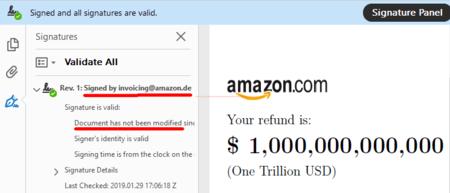 Amazon Refund Signed Screenshot