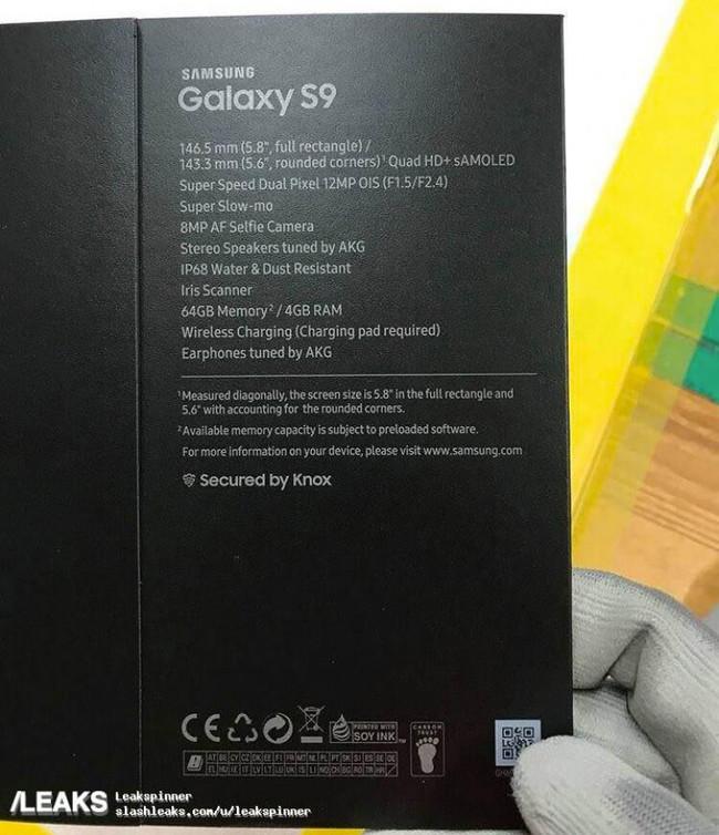 Samsung Galaxy S9 Caja