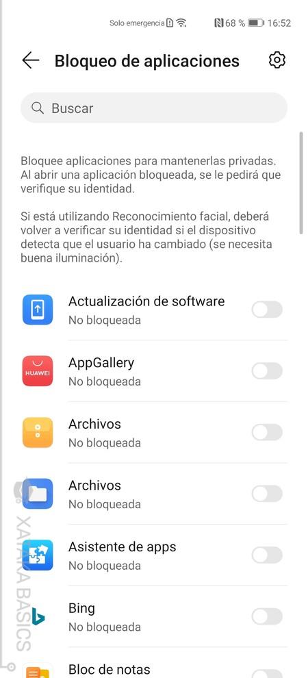 Bloqueo Apps