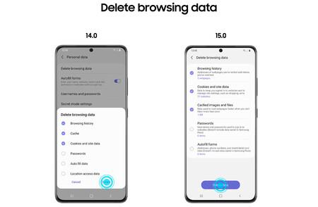 Navegador Samsung Privacidad