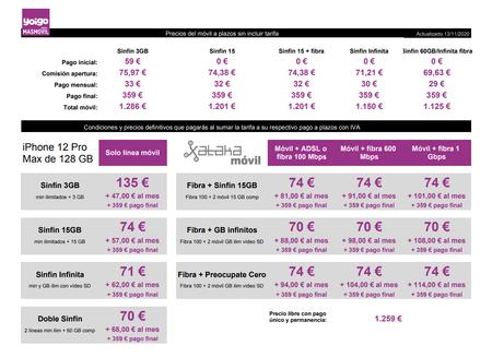 Precios Iphone 12 Pro Max De 128 Gb A Plazos Con Tarifas Yoigo