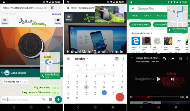 Tres apps a la vez en Android
