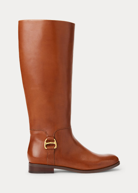 Brystol Burnished Leather Riding Boot